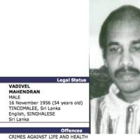 INTERPOL sucht Karuna-Freund Vadivel Mahendran