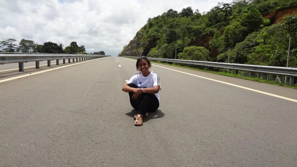 Lonley Autobahn in Lanka