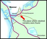 map of Mannar